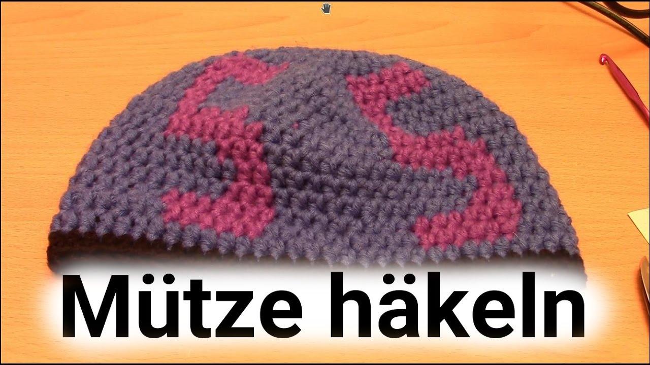 Mütze Häkeln Mit Schriftzug Youtube