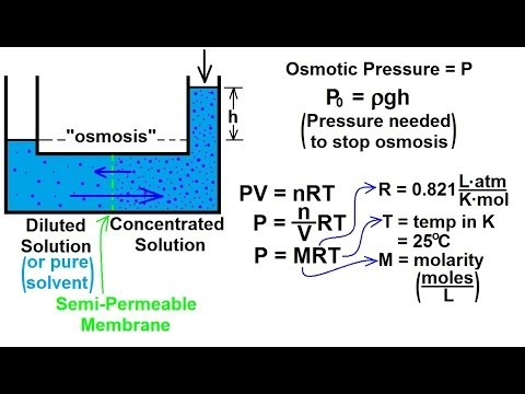 Chemistry - Solutions (44 of 53) Colligative Properties- Osmotic Pressure