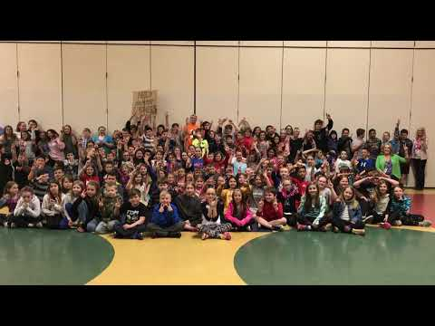 Mr. Peace Hanging Out With Students At Whitmore Lake Elementary School (Whitmore Lake, Michigan)
