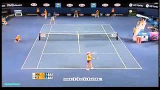 Jelena Dokic vs Alisa Kleybanova 2009 AO Highlights 2/2
