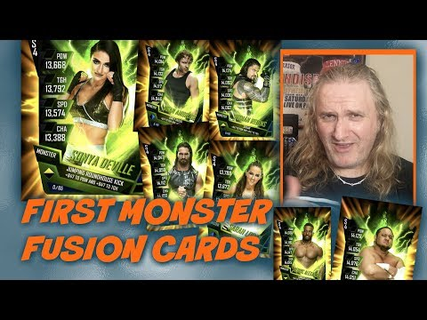 First Monster Fusion Cards : WWE SuperCard S4 Ep43