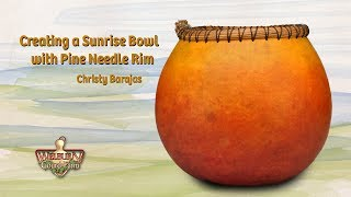 Comment Créer un Lever de soleil Gourde Bol avec de l'Aiguille de Pin de la Jante
