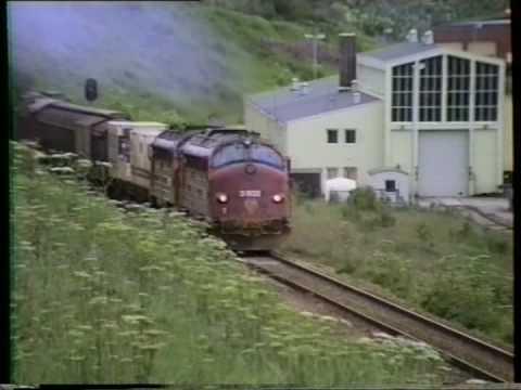 NSB Di3.602+Di3.609 I Bodø.11 juli 1990
