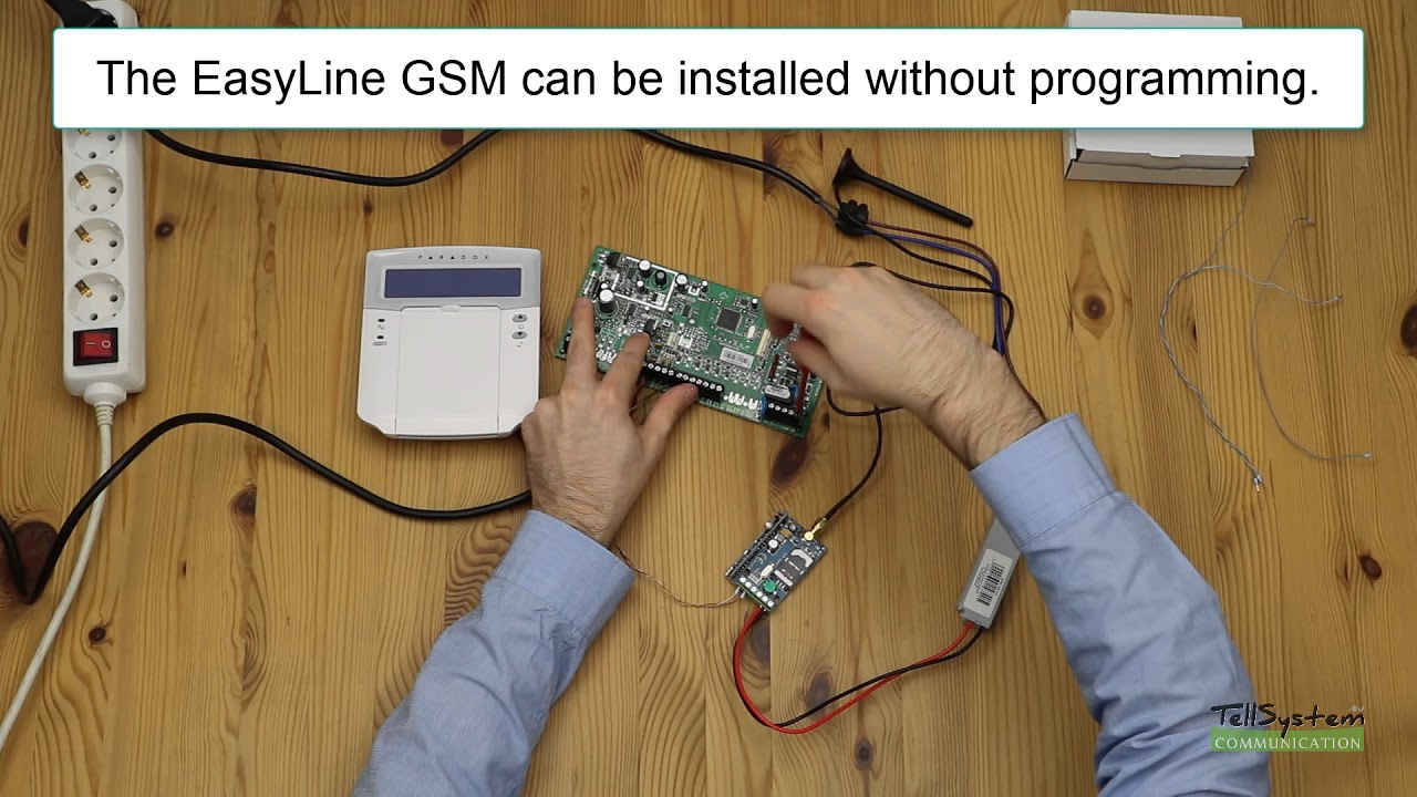 paradox spectra - how to install an easyline gsm module to a sp 5500 alarm  center?