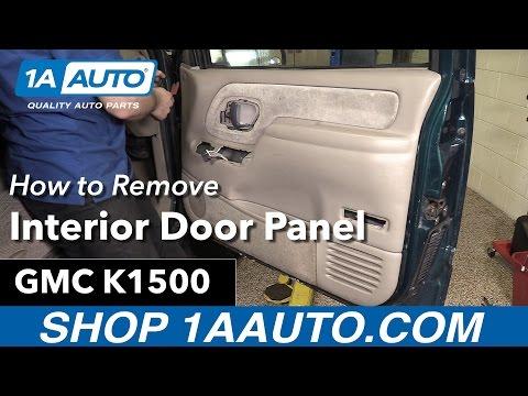 How To Remove Interior Door Panel 88 98 Gmc K1500 Youtube