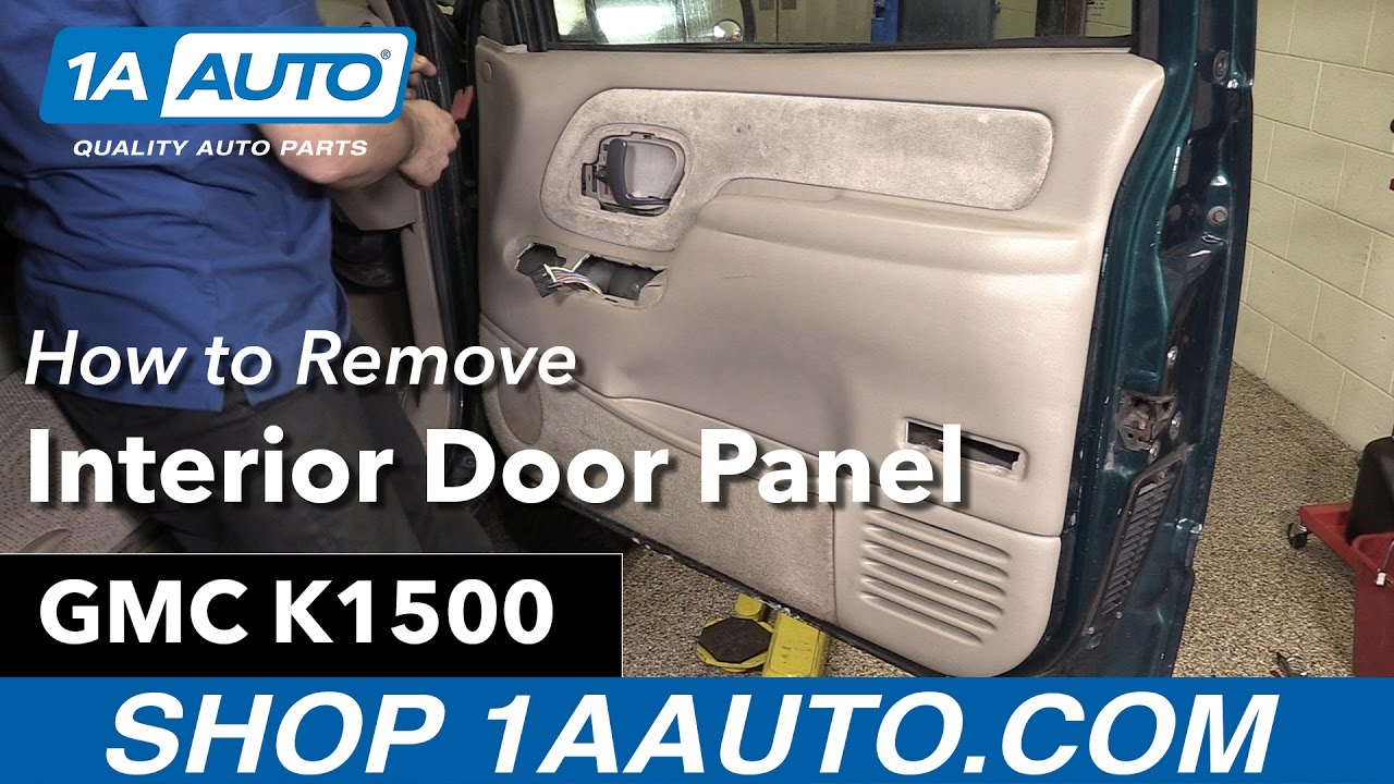 How To Remove Interior Door Panel 88 98 Gmc K1500 Youtube