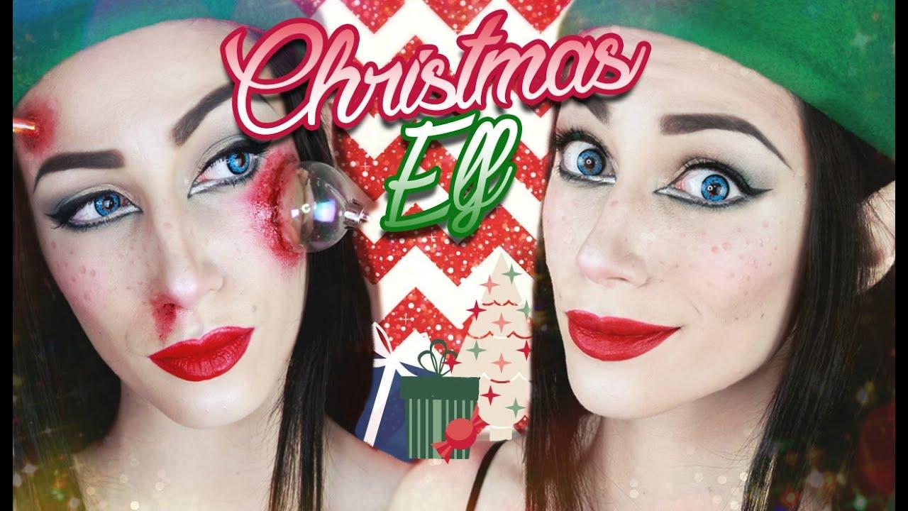 destroy christmas elf makeup tutorial youtube - Christmas Elf Makeup
