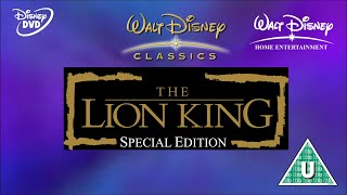 Opening to The Lion King: Special Edition UK DVD 2003