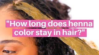 How long does henna last in hair? How often should I do touch-ups? #AskHennaSooq