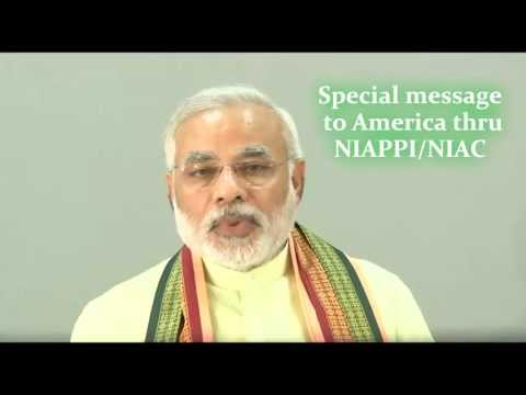 Special message to America from CM Modi thru Shalabh Kumar, Chairman of NIAPPI