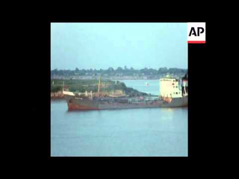 UPITN 21 4 73 RELIEF CONVOY OF SHIPS ARRIVE ON MEKONG