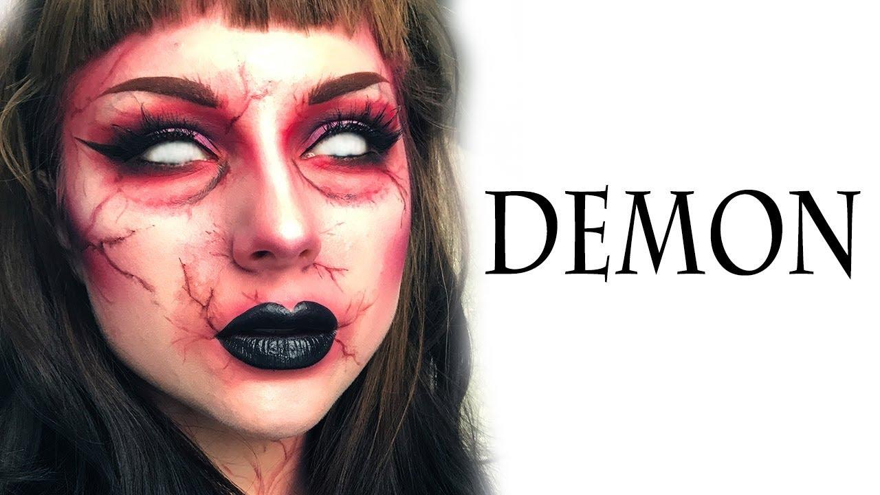 Demon Halloween Makeup Tutorial - YouTube  Demon Halloween Makeup