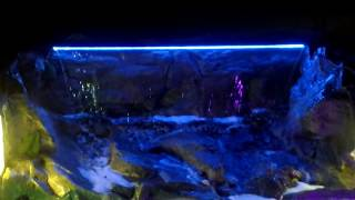 Garden Artificial Rock Waterfall Spillway LED Vancouver, BC [WaterfallNow.com]
