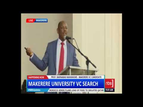Prof. Nawangwe Publicly Present Why Makerere University Needs Him as Vice Chancellor