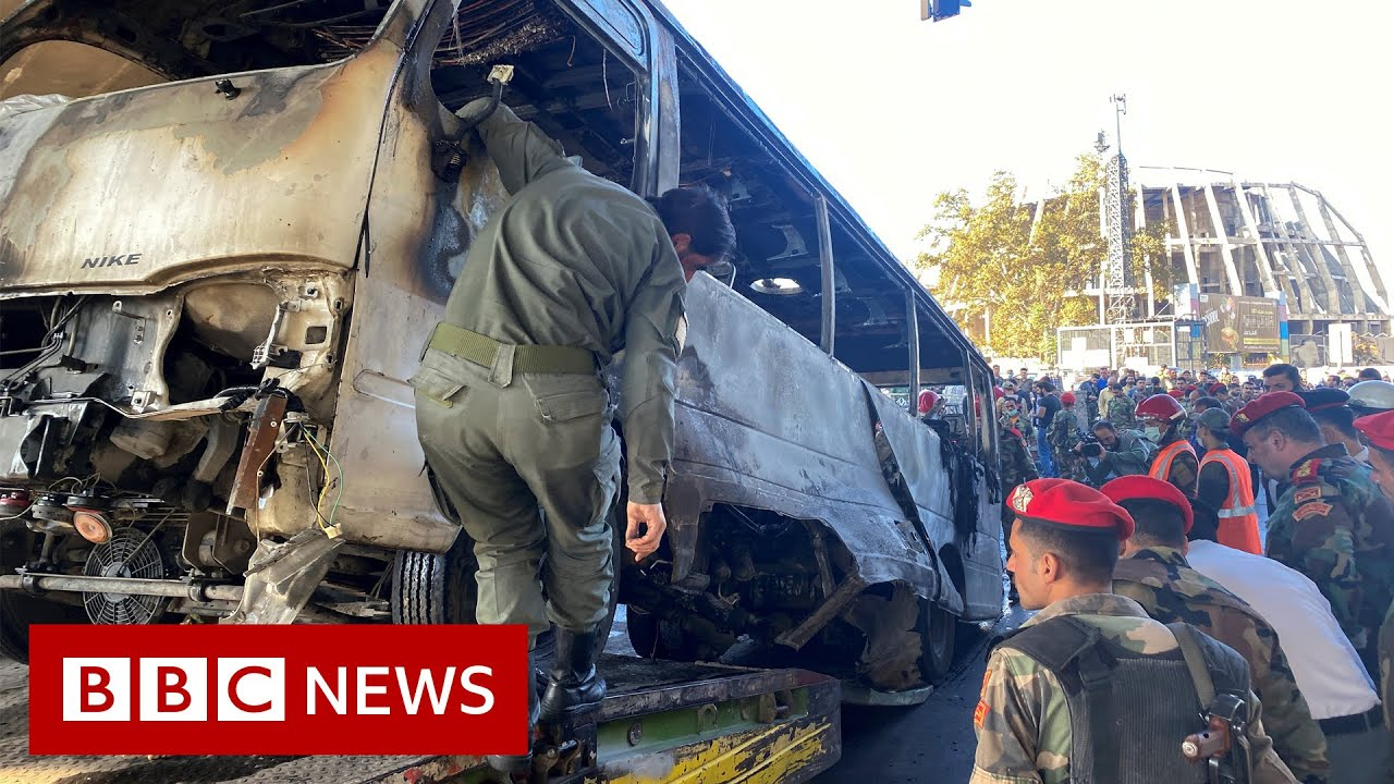 Download Deadly bomb blasts hit Syria military bus - BBC News