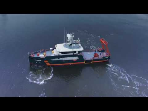 Sea trials hydrogrpahic survey vessel 'Geo Ranger'