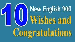 Learning English Speaking Course - Wishes and Congratulations
