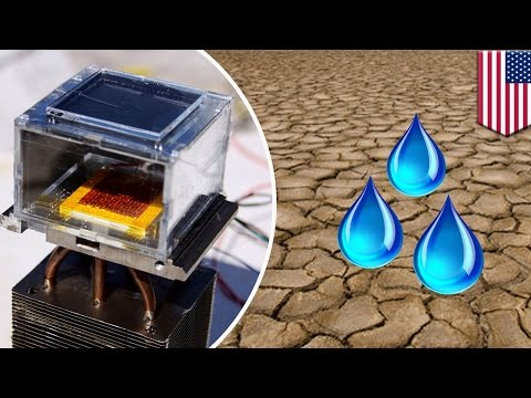 Water technology: Solar-powered device can collect water straight from the desert air - TomoNews