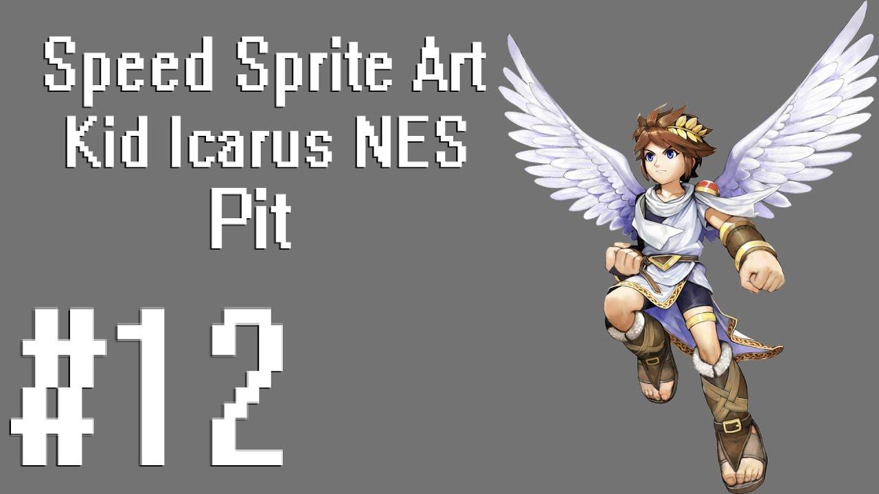 Speed Sprite Art 12 Kid Icarus NES Pit