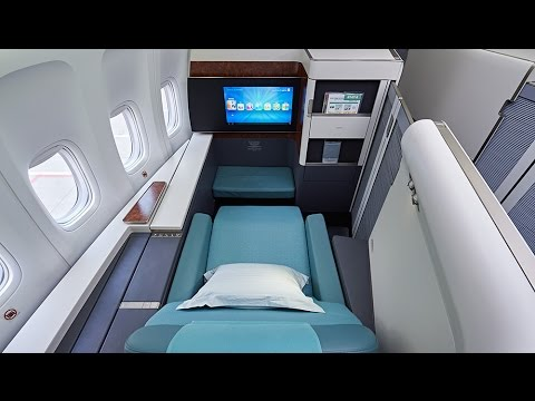 B747 8i NEW KOREAN AIR Airplan/NEW First Class And Business Class -go Singapore