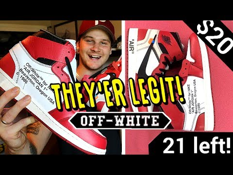BUYING SAMPLE OFF WHITE JORDAN 1'S OFF INSTAGRAM ADS!! ARE THEY LEGIT?!