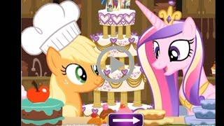 Видео игры. Май  Литл пони. Эпплждек готовит торт.