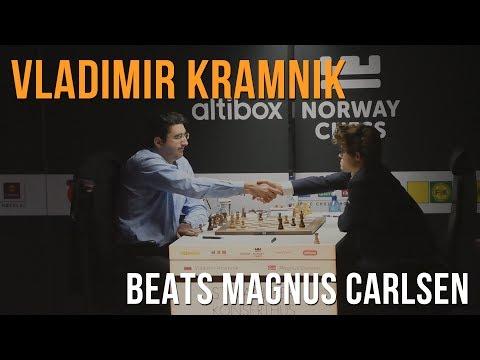 Altibox Norway Chess: Vladimir Kramnik beats Magnus Carlsen