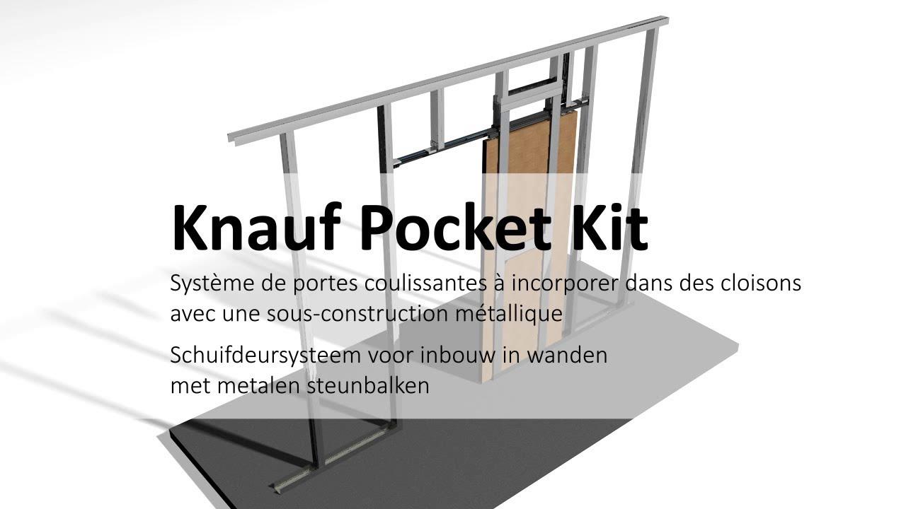 pocket kit syst me de porte coulissante schuifdeursysteem youtube. Black Bedroom Furniture Sets. Home Design Ideas