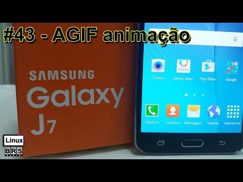 Samsung Galaxy J7 - AGIF animação de fotos - Português