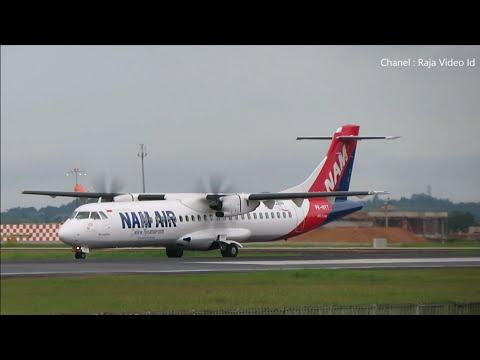 ATR 72-600 NAM Air Landing dan Take Off di Bandara Syamsudin Noor Banjarmasin