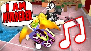 PLAYING FUNNY SONGS MIT MEINEM RADIO in MM2!! (Roblox)