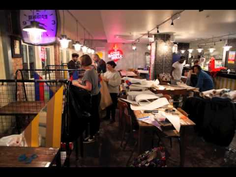 Paper Mario Pop-up diner at the Breakfast Club, Spitalfields, London