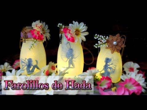 Manualidades recicladas linternas de hada con botes de cristal isa youtube - Farolillos para velas ...