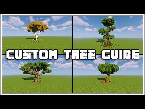 Minecraft Custom Tree Guide Tutorial [World Download]