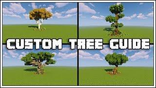 Minecraft Custom Tree Guide Tutorial [World Download]