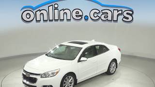A10066JA Used 2015 Chevrolet Malibu LT FWD 4D Sedan White Test Drive, Review, For Sale