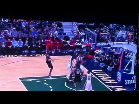[ORIGINAL VIDEO] -AMAZING DUNK-Jeremy Evans DUNKS on Gerald Wallace [HD] MUST