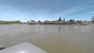 Как в Быстрянке берег снесло(После паводка в 2014 году, в с.Быстрянка смыло улицу. Сейчас река Катунь меняет основное русло на сторону Быст..., 2015-05-11T18:13:24.000Z)