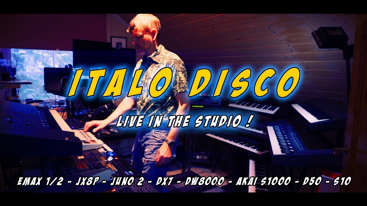 80s synth-pop/Italo disco LIVE from the studio - Old school MIDI sequenced  setup
