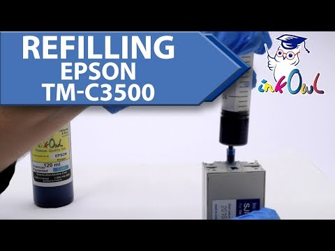 How To Refill EPSON ColorWorks TM-C3500 Ink Cartridges