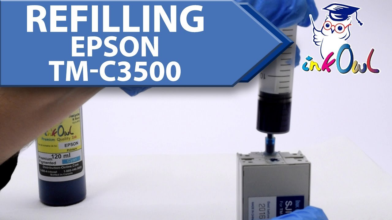 How To Refill Epson Colorworks Tm C3500 Ink Cartridges Youtube Tinta Hp 680 Black