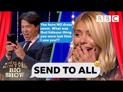 Holly Willoughby mortified as Michael TRASHES her contacts 🤮😂 - BBC