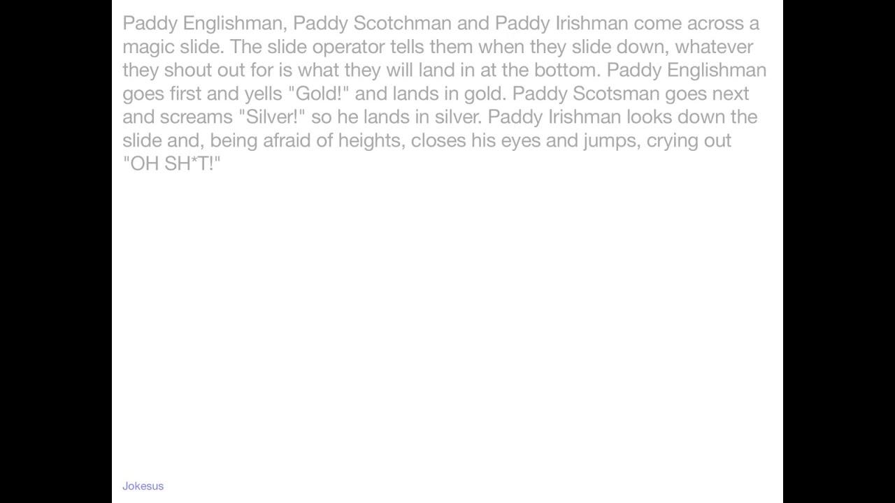 Paddy englishman paddy irishman jokes