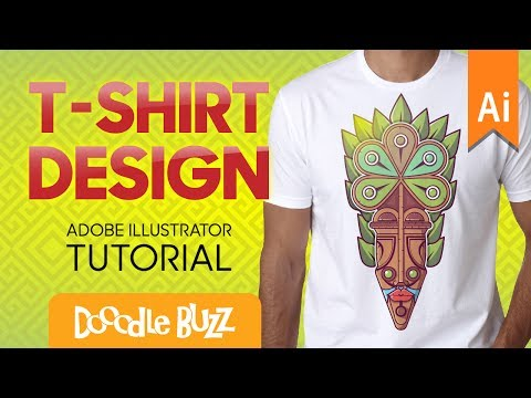 Professional T-Shirt Graphic Design Tutorial In Adobe Illust
