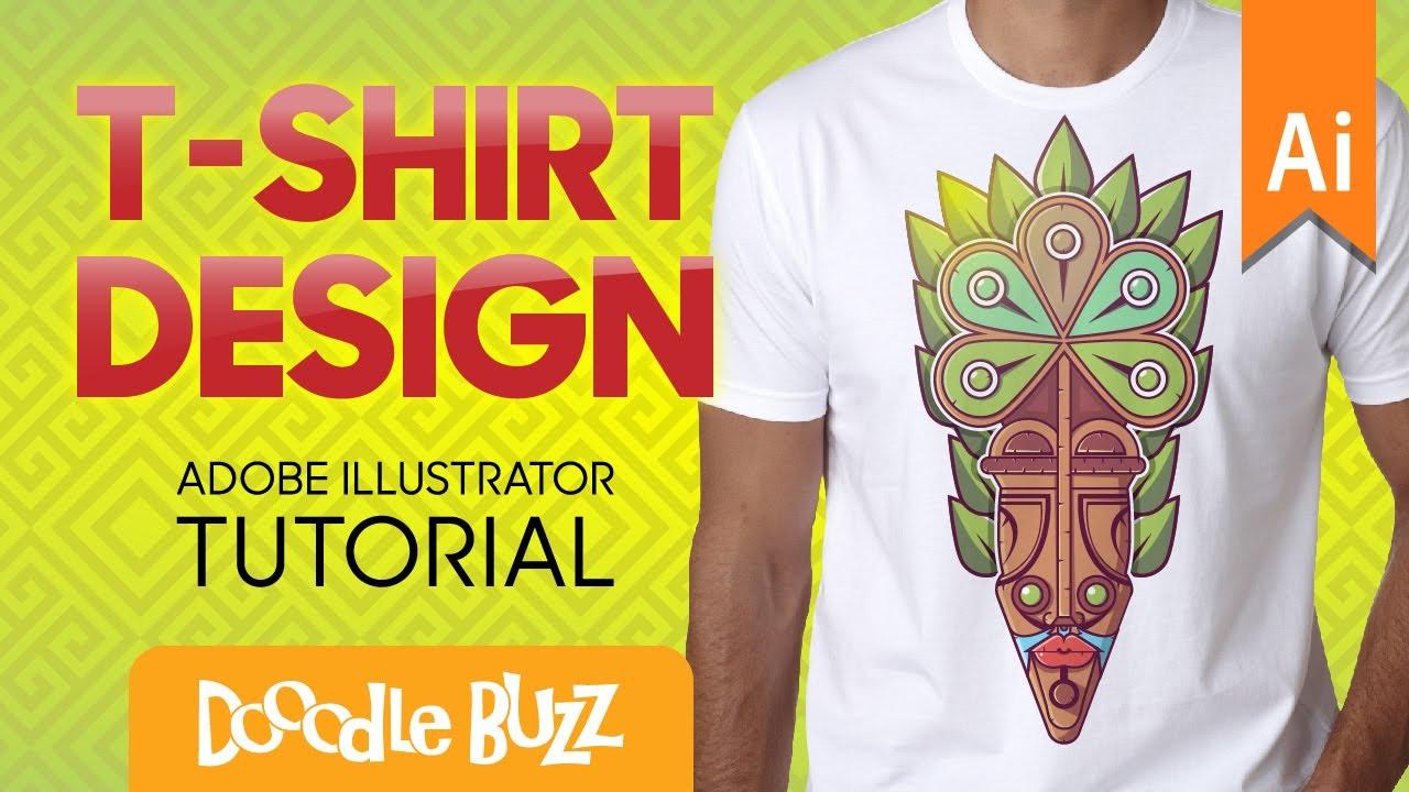 Design t shirt adobe illustrator tutorial - Professional T Shirt Graphic Design Tutorial In Adobe Illustrator African Tribal Mask Design