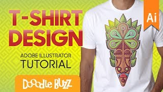 Professional T-Shirt Graphic Design Tutorial In Adobe Illustrator | African Tribal Mask Design