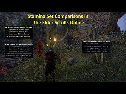The Elder Scrolls Online Let's Talk; Stamina DPS Gear Comparisons
