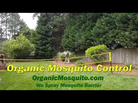 Carolina Organic Lawns Sprays Mosquito Barrier in the Raleigh Triangle