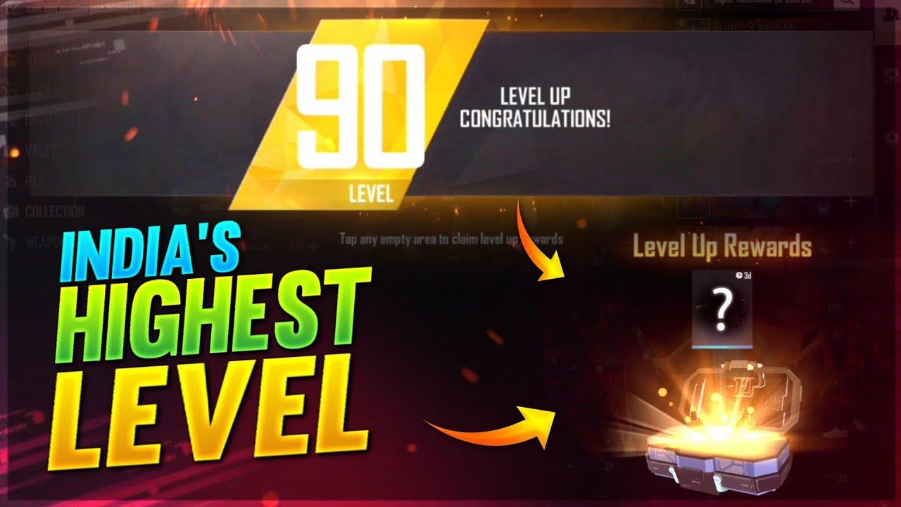 LEVEL UP 90 Reward 🤯❤️ India's Highest Level Player #shorts