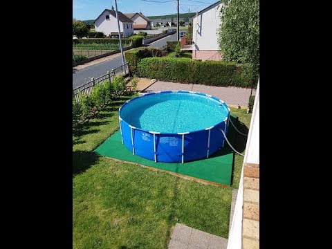 Le retour de ludo sur sa piscine intex x nouveau for Piscine intex 4 57 x 1 22